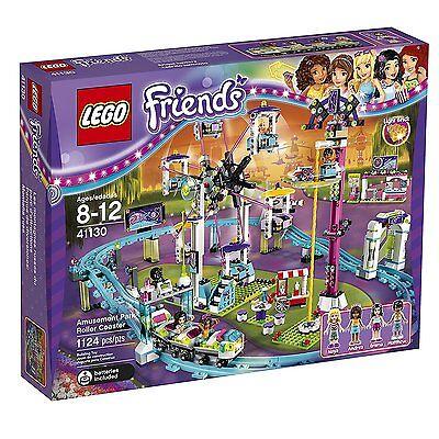 Lego Friends Amusement Park Roller Coaster Ferris Wheel Drop Tower Build 1124 Pc