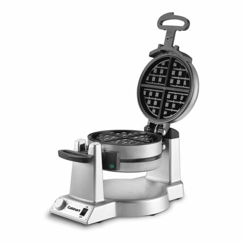 Hotel Belgian Waffle Iron Maker Rotating Double Baker Pan Commercial Machine New