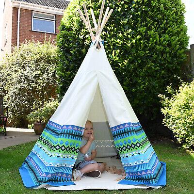 Aztec Teepee Large Wigwam Play Tent Childrens Cotton Indoor Outdoor Garden Kids