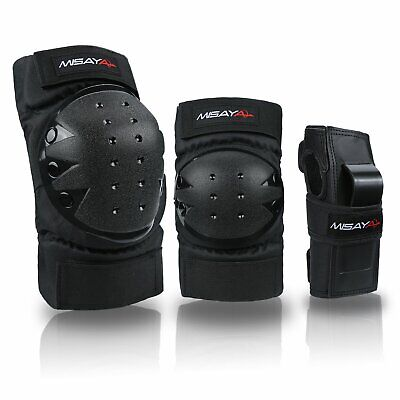 Knee Pads Elbow Pads Wrist Guards 3 In 1 Protective Gear Set for Skateboarding