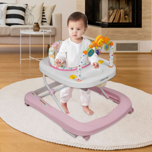Baby Activity Walker Chair Seat Toddler Boys Girls Rolling Assistant for 6-12 M