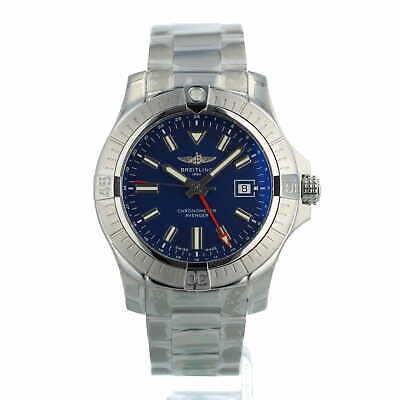 Breitling Avenger Automatic GMT 45 A32395 Blue Dial Steel Bracelet Unworn 2021