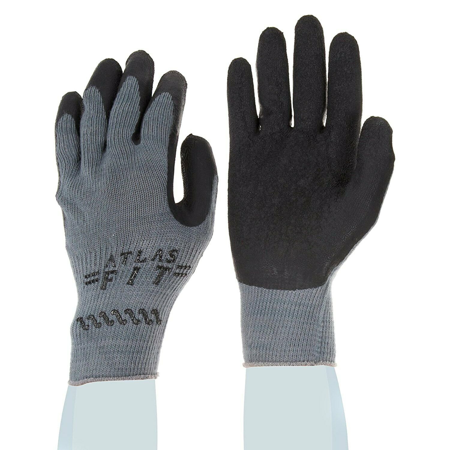 Showa Best Atlas 300B Black Rubber Dipped Work Gloves, Various Quantities & Size Business & Industrial