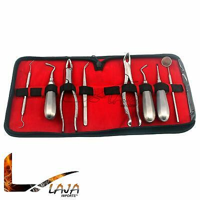 Extracting Forceps Elevators 8 Pc Kit Dental Instruments Stainless Steel