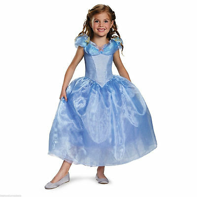 Girl Movie Costumes (Cinderella Movie Girl's Kids Deluxe Child Dress Costume | Disguise)