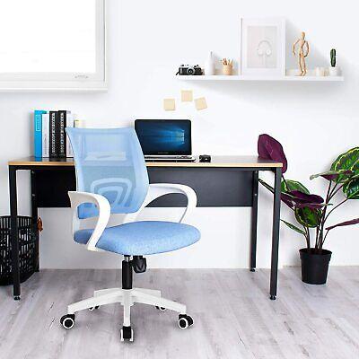 Office Chair Ergonomic Computer Task Desk Chair Mid Back Height Swivel Mesh Seat