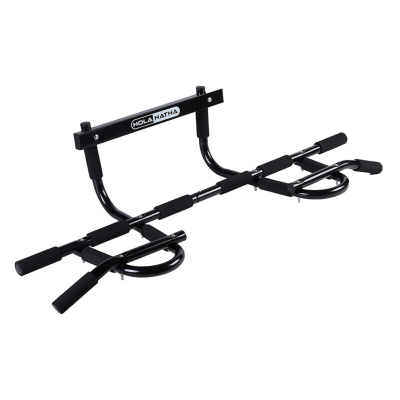 HolaHatha Home Workout Door Pull Up Chin Up Bar for Doorway Exercise Fitness