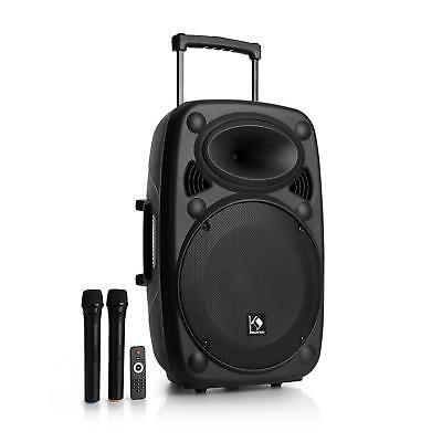 *B-WARE* Mobile DJ PA Anlage Karaoke Box USB Bluetooth Lautsprecher Trolley, gebraucht gebraucht kaufen  Berlin