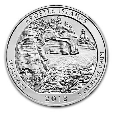 Presale-2018 5 oz Silver ATB Apostle Islands National Lakeshore, WI - SKU#152545