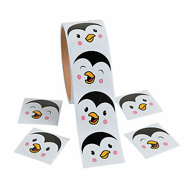 Penguin Party Favors (1 Roll CHRISTMAS Holiday Winter Party Favors Prizes Cute PENGUIN FACE)