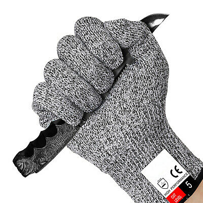 Cut Proof Resistant Gloves Level 5 Safety Butcher Kitchen Shucking Carving Stab