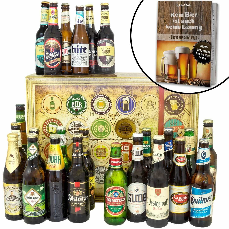 Bier Spezialitäten aus aller Welt und Deutschland - 24 Biere Geschenkbox