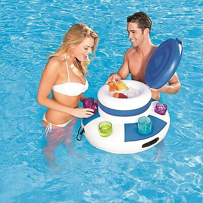 Inflatable Pool Cooler (BESTWAY MEGA INFLATABLE FLOATING SWIMMING POOL LAKE COOLER BEVERAGE)
