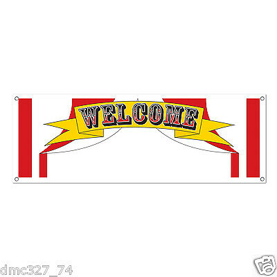 1 CIRCUS Carnival BIG TOP TENT Party Decoration WELCOME SIGN BANNER 60