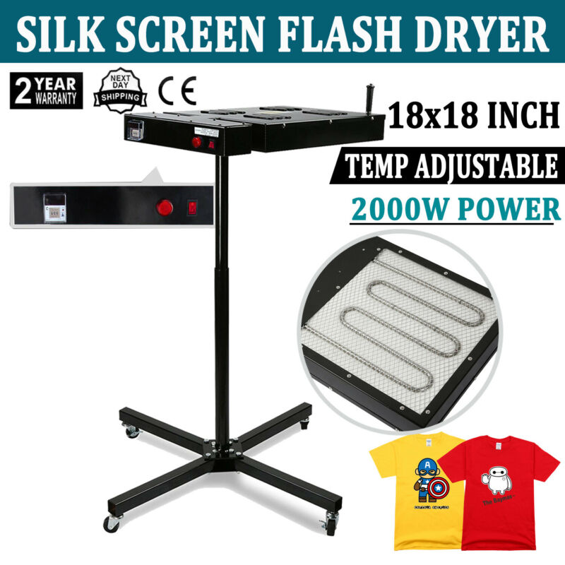 "18"" X 18"" Flash Dryer Silk Screen Printing Equipment T-Shirt Curing"