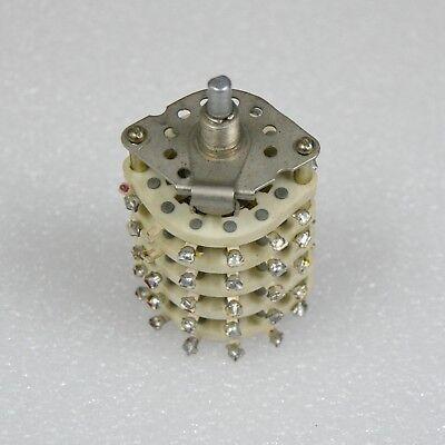 Pgk-11p5n Ceramic Rotary Switch Vintage 5 Deck 11p5n 5 Pole 11 Pos Soviet