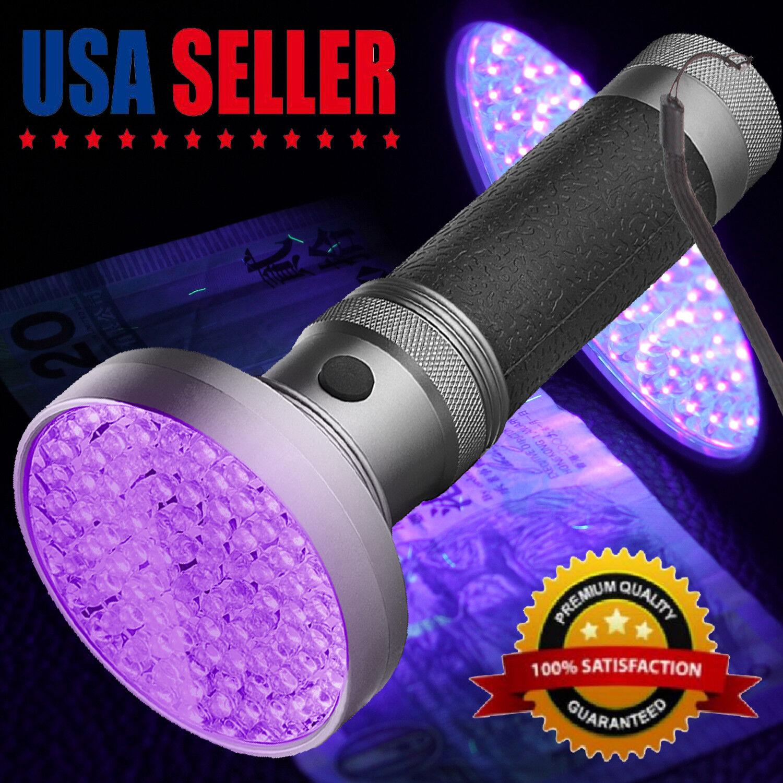 100 LED UV UltraViolet Blacklight Flashlight Lamp Torch Inspection Light Outdoor Camping & Hiking