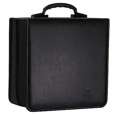 Lifewit 512 Disc CD DVD Leather Organizer Storage Case Media Viedo Holder Black