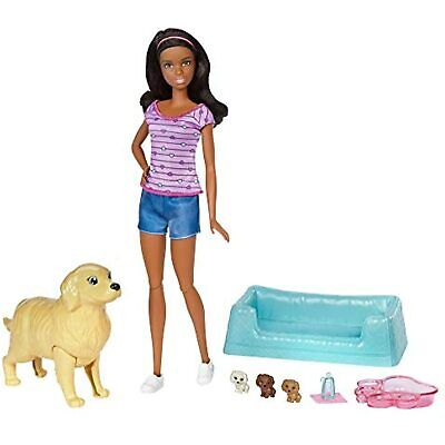 Barbie Dolls with Mommy Dogs and Newborn Puppies