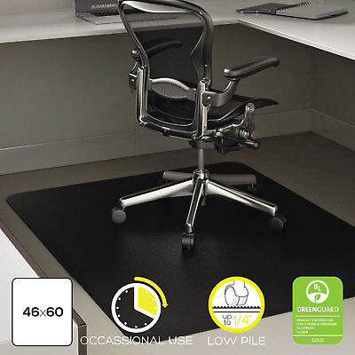 Deflecto Economat Occasional Use Chair Mat For Low Pile 46 X 60 Black