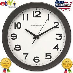 Howard Miller Kenwick Wall Clock 13 1/2  Round Black Traditional Arabic Numeral