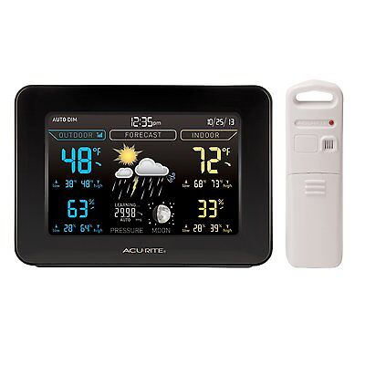 Acurite 02027A1 Color Weather Station With Forecast Temperature Humidity  New