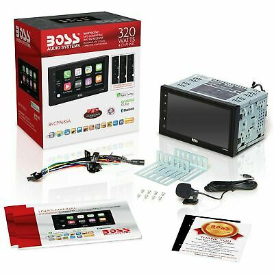 BOSS Audio Double Din BVCP9685A Car Stereo with Apple CarPlay Android Auto