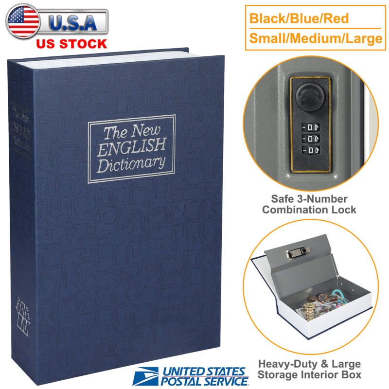 Lock & Key Hidden Dictionary Diversion Book Safe Secret Security Stash Storage