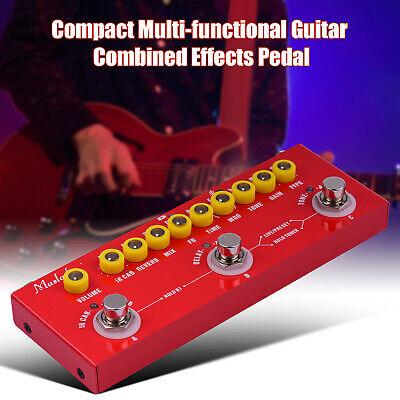 Guitar Multi-Effects Pedal 8 IR Box Simulation Delay Chorus Phaser Reverb Y3T4