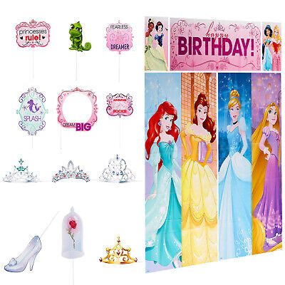 Disney Princess Scene Setter Photo Booth + Prop Birthday Wall Decoration ~ 17pc](Birthday Princess Decorations)