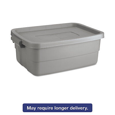 Rubbermaid Roughneck Storage Box 10 Gal Steel Gray 2214ste
