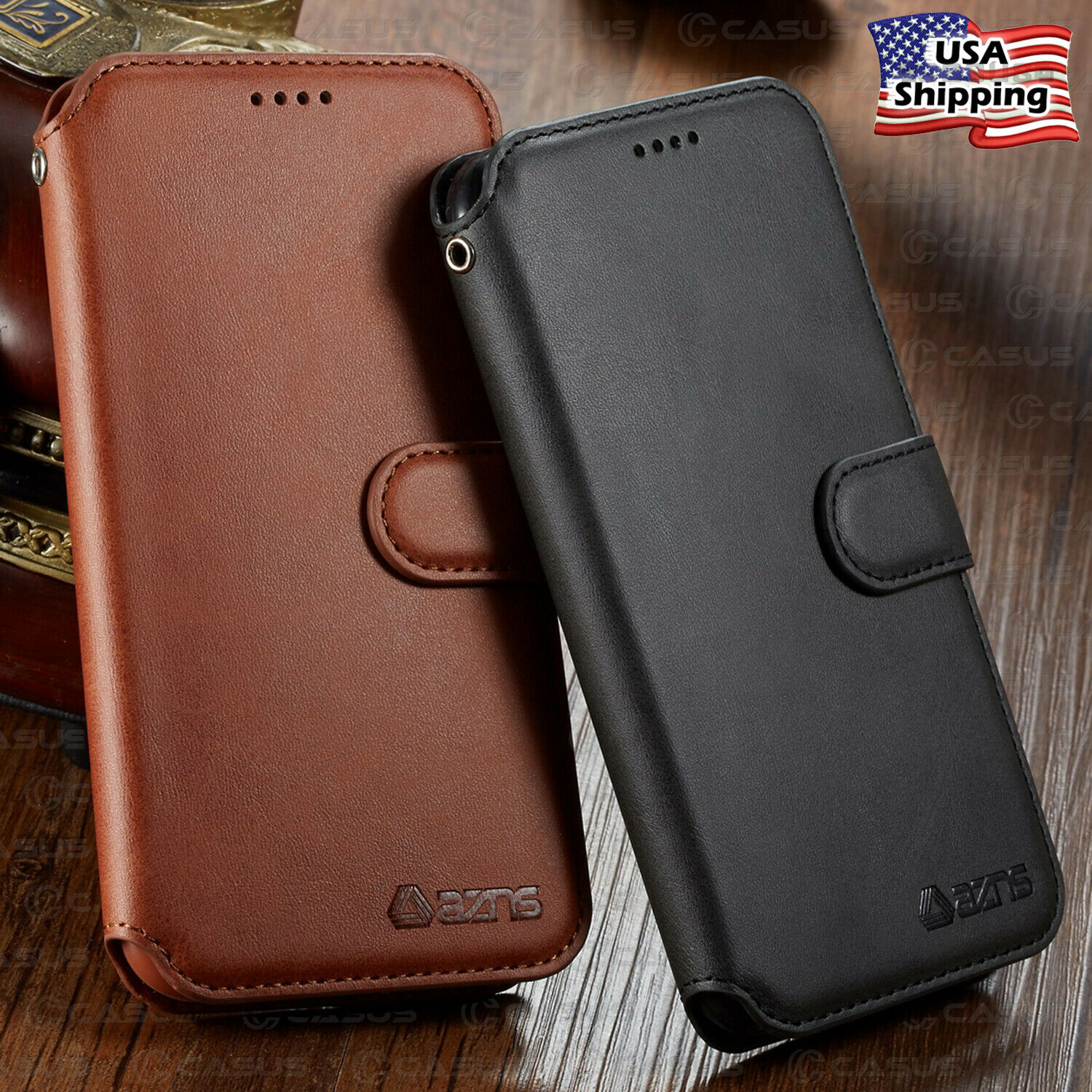 Leather Wallet Flip Card Holder Slot Cover Case For iPhone X