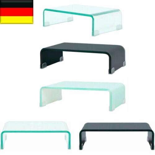 TV-Glasaufsatz TV-Tisch Monitor Erhöhung Glasbühne Podest  Fernsehtisch
