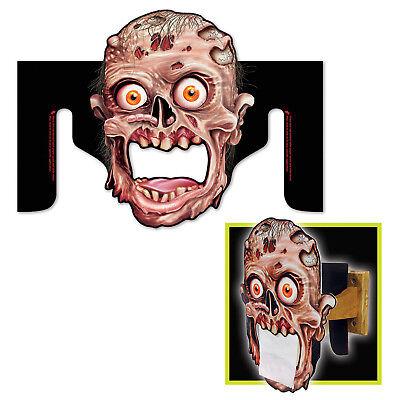Halloween Toilet (Halloween HAUNTED HOUSE Zombie BATHROOM Toilet Paper Dispenser)