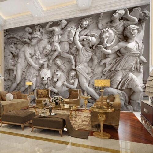 Custom 3D Photo Wallpaper European Retro Roman Statues Art Wall Mural