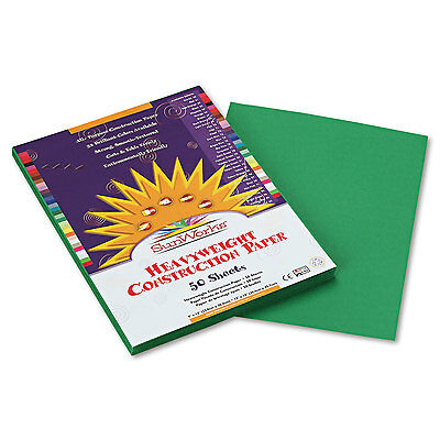 Sunworks Construction Paper 58 lbs. 9 x 12 Holiday Green 50 Sheets/Pack 8003