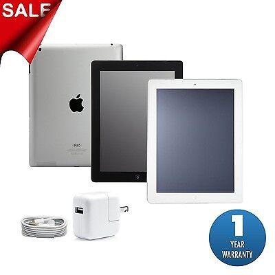 Apple iPad 2, 3 or 4   16GB,32GB,64GB or 128GB   Black or White Wi-Fi Tablet (R)