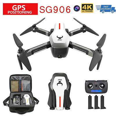 SG906 5G Wifi GPS FPV RC Drone Foldable Quadcopter with 3 Battery+ Handbag E6K1