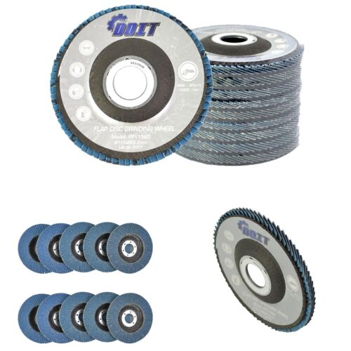 "10 PC 4-1/2"" X 7/8"" 60 GRIT Premium Zirconia Flap Disc Grinding Wheel Sandpaper"
