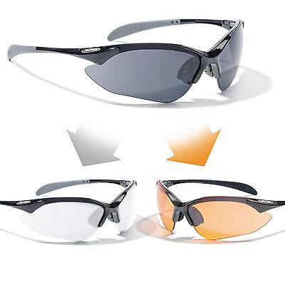 Alpina Wechselscheiben Fahrradbrille Sportbrille TRI-QUATOX Set Tasche *NEU*