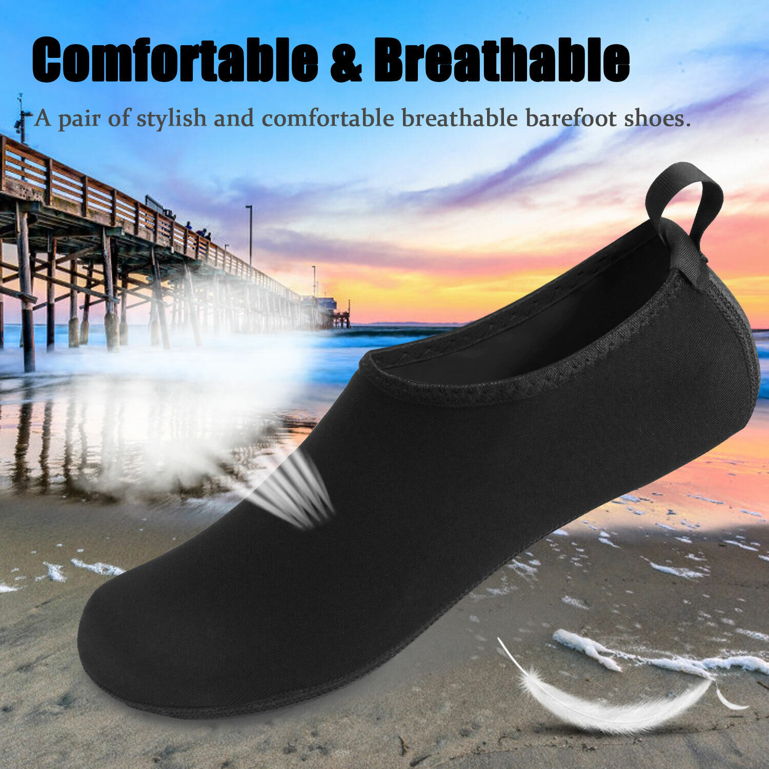 Men Women Water Shoes Barefoot Quick-Dry Beach Yoga Swim Sports Exercise Socks Athletic Shoes