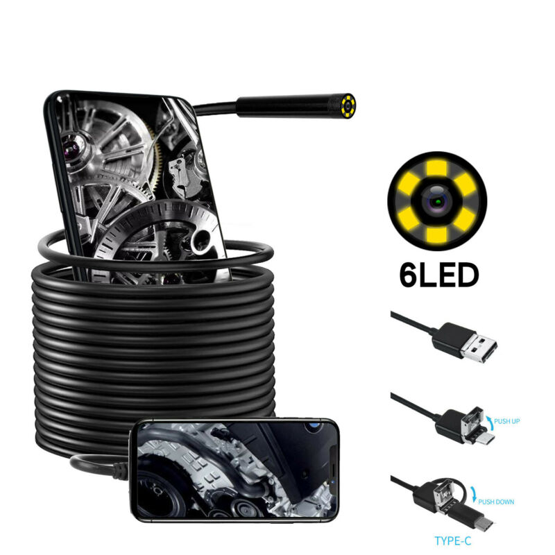 Type-C/Micro USB/USB2.0 Endoscope Waterproof Inspection Camera for Android Phone