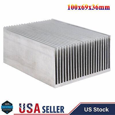 Aluminum Heatsink Heat Sink For Led Amplifier Transistor Ic Module 100x69x36mm
