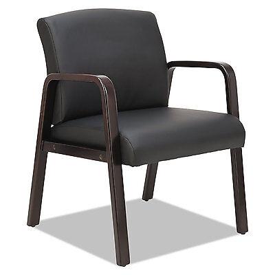 Alera Reception Lounge Series Guest Chair Espressoblack Leather Rl4319e