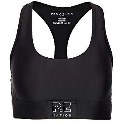 P.E NATION Women's Endurance Sports Bra, Black, Large