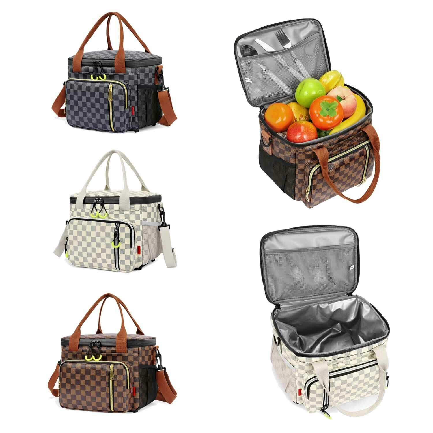 WODKEIS Portable Insulated Thermal Cooler Lunch Bag Food Tote Box for Women/&Men