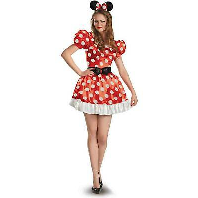 Disney Minnie Mouse Classic Women's Adult Halloween Costume S/P 4-6 (Disney Halloween Costumes Adult)