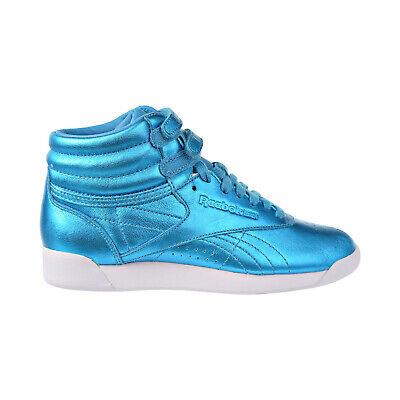 Reebok Freestyle Hi Metallic Women Shoes Feather Blue-White CN0959