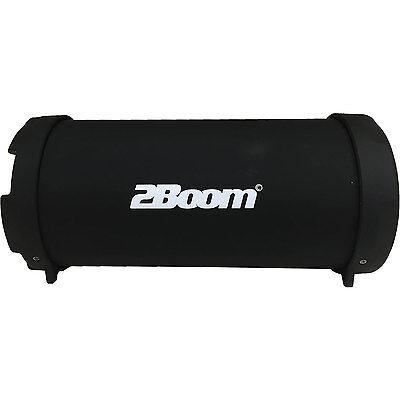 2Boom Wireless Bluetooth Speaker, Mini Bass King, Outdoor Speaker with FM Radio