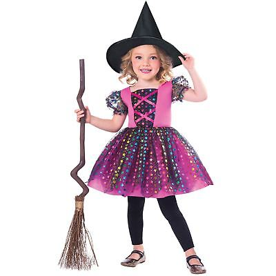 Girls Pretty Rainbow Witch Fancy Dress Costume Magic Harry Toddler Cute - Girls Pretty Witch Kostüm